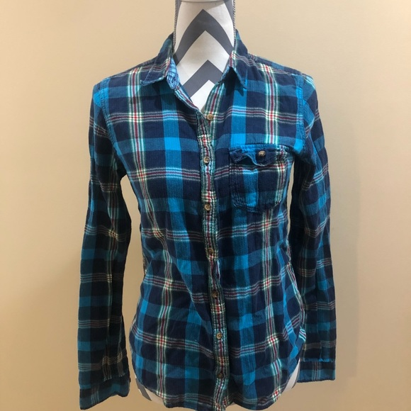 c3478105 Abercrombie & Fitch Tops | Abercrombie Fitch Plaid Button Down ...